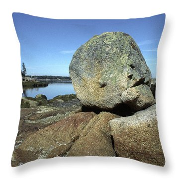 Deer Isle Granite Throw Pillow by Thomas R Fletcher