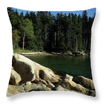 Deer Isle Maine Throw Pillow by Thomas R Fletcher