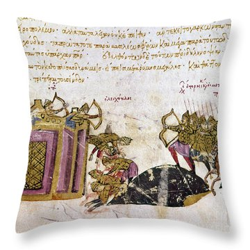 Defense Of Constantinople Throw Pillow by Granger