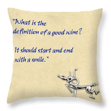 Definition Of Wine Throw Pillow by Elaine Plesser