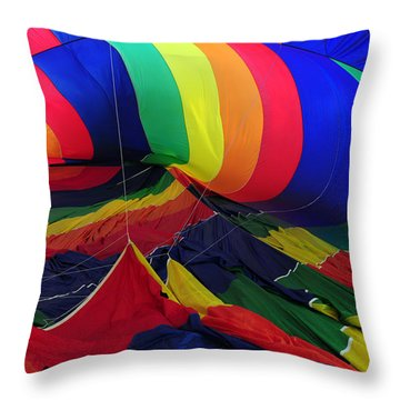 Deflated Throw Pillow by Mike Martin