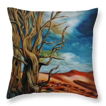 Defying Time Throw Pillow