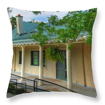 Throw Pillow featuring the photograph Delaware Park Casino by Michael Frank Jr