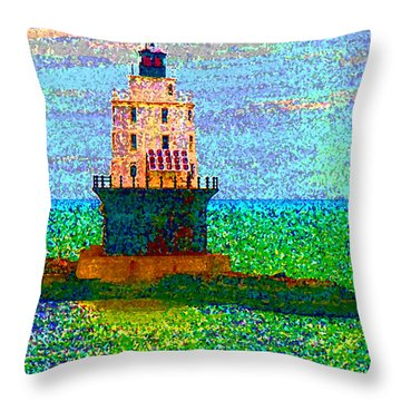 Throw Pillow featuring the photograph Delight House by Clara Sue Beym