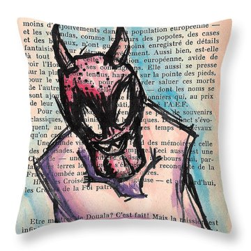 Demon In A Straightjacket Throw Pillow by Jera Sky
