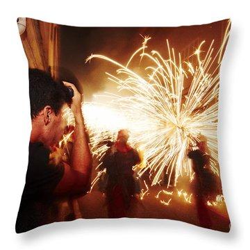 Demons Fire Throw Pillow