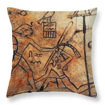 Den Striking Down Asiatic Tribesman Throw Pillow by Photo Researchers