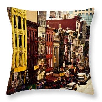 Density - Above Chinatown - New York City Throw Pillow