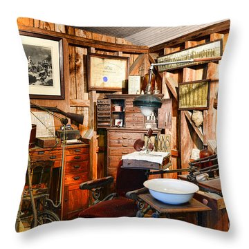 Dentist - The Dentist Office Throw Pillow by Paul Ward