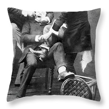 Dentistry Tooth Extraction 1892 Throw Pillow by Science Source