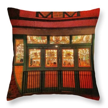 Dentzel Carousel As It Is Closing For The Night Throw Pillow