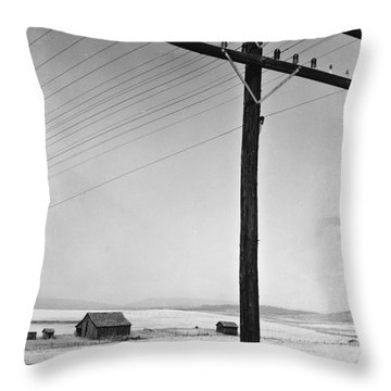Depression Era Rural America Throw Pillow by Photo Researchers