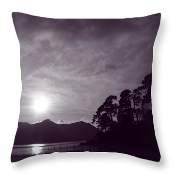 Derwent Ripples Throw Pillow by Linsey Williams