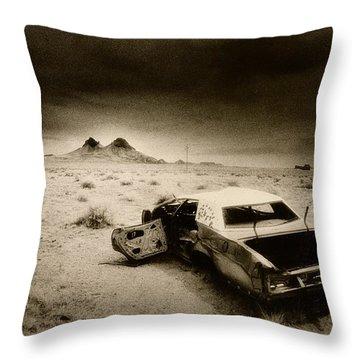Desert Arizona Usa Throw Pillow by Simon Marsden