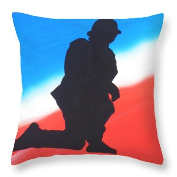 Desert Duty I Throw Pillow by Alys Caviness-Gober