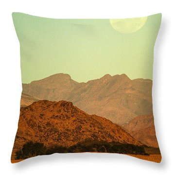 Desert Moonrise Throw Pillow