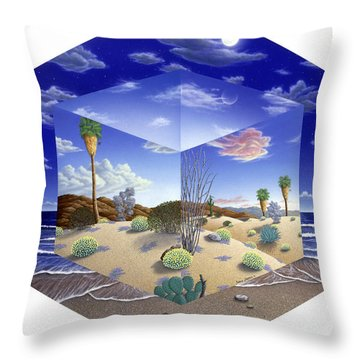 Desert On My Mind Throw Pillow by Snake Jagger