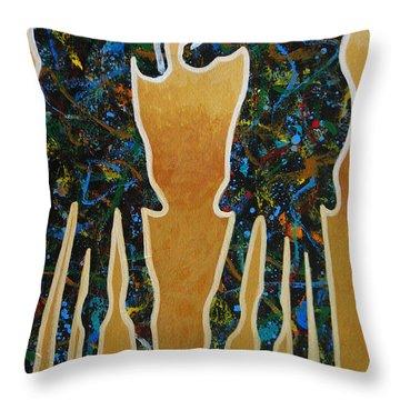Desert Riders Throw Pillow by Lance Headlee