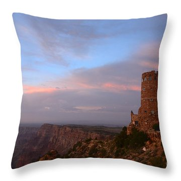 Desert View Watchtower Throw Pillow by Cassie Marie Photography