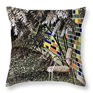 Design On A Dime Throw Pillow by Gwyn Newcombe