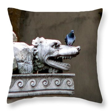 Despised Pigeon Throw Pillow by Eric Tressler
