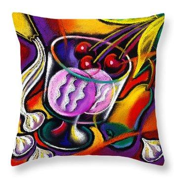 Dessert Throw Pillow by Leon Zernitsky
