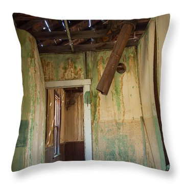 Throw Pillow featuring the photograph Deterioration by Fran Riley