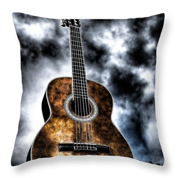 Devils Acoustic Throw Pillow by Jason Abando