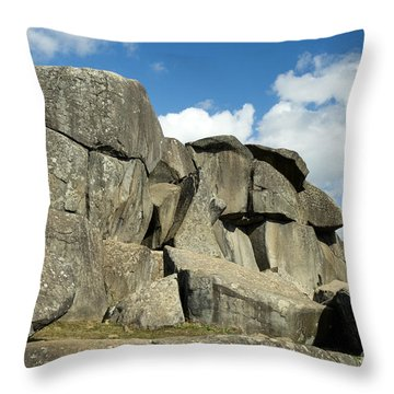 Devil's Den Formation 42 Throw Pillow by Paul W Faust -  Impressions of Light