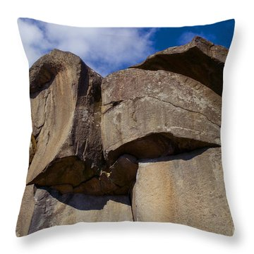 Devil's Den Formation 74 Throw Pillow by Paul W Faust -  Impressions of Light