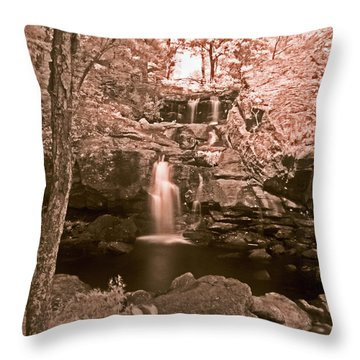 Throw Pillow featuring the photograph Devil's Hopyard by William Fields