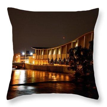 Devos Hall At Night Throw Pillow by Richard Gregurich