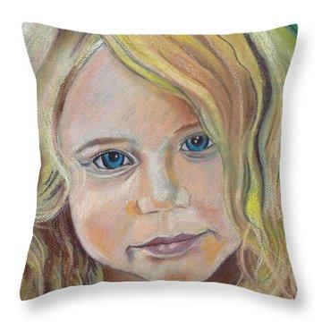 Devyn  Throw Pillow by John Keaton