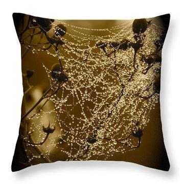 Dewdrop Cameo Throw Pillow by Carol Groenen