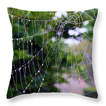 Dewdrops Dimension Throw Pillow by Carol Groenen