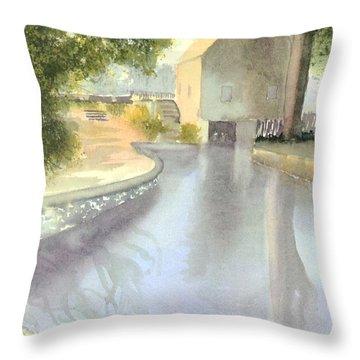 Dexter Grist Mill Reflections Throw Pillow by Joseph Gallant