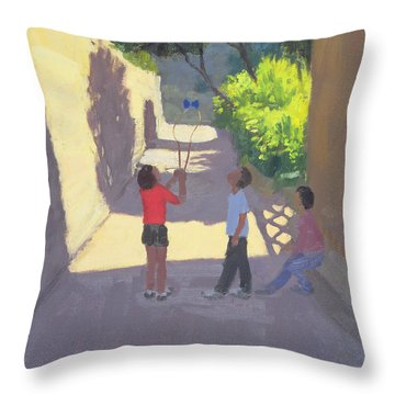 Diabolo France Throw Pillow by Andrew Macara