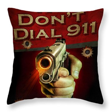 Dial 911 Throw Pillow
