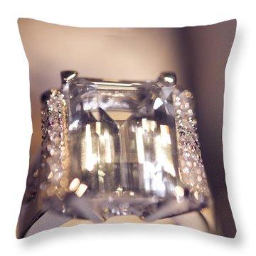 Diamond Ring. Spirit Of Treasure Throw Pillow by Jenny Rainbow