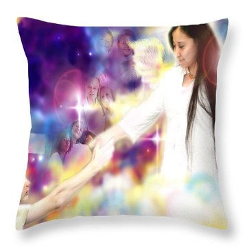 Diamond-wagner.angelic Throw Pillow