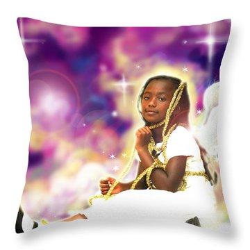 Diamond.angelic 2 Throw Pillow by Nada Meeks