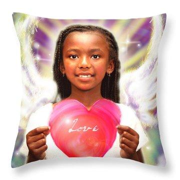 Diamond.angelic  Throw Pillow by Nada Meeks