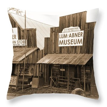 Dick Huddleston Store Est. 1909 Throw Pillow by Douglas Barnard