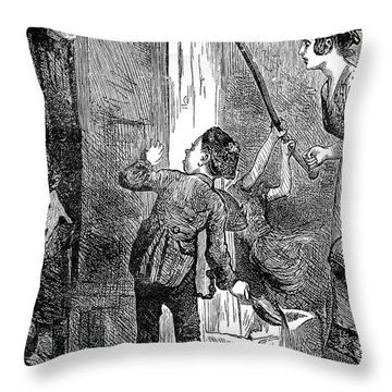 Dickens: Nicholas Nickelby Throw Pillow by Granger