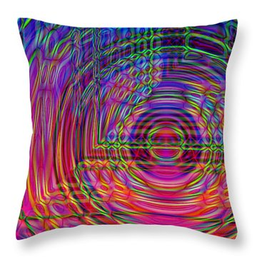 Throw Pillow featuring the digital art Digets by David Pantuso