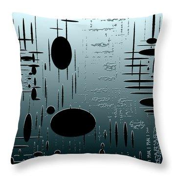 Digital Dimension In Aquamarine Series Image 1 Throw Pillow