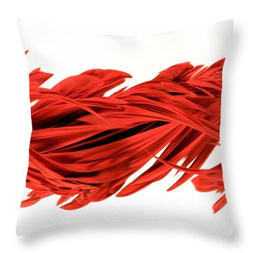Digital Streak Image Of A Poinsettia Throw Pillow by Ted Kinsman