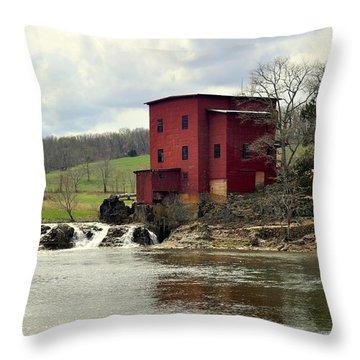 Dillard Mill Throw Pillow by Marty Koch