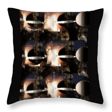 Dimensions Throw Pillow by Paula Ayers