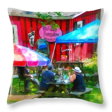 Dining Al Fresco Throw Pillow by Susan Savad